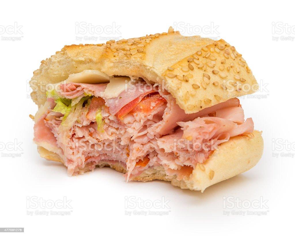 Bitten Sandwich stock photo