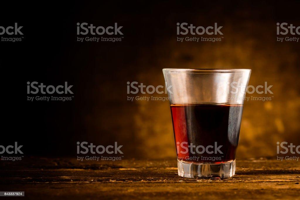 Shot de licor amargo foto de stock libre de derechos