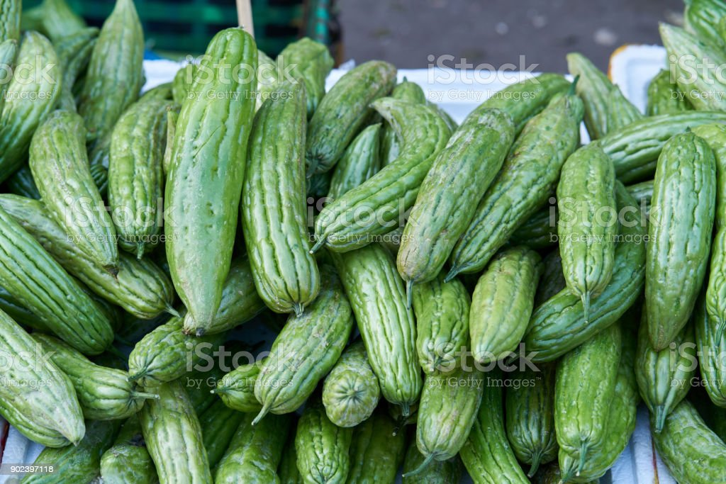 Bitter melon (Bitter gourd) stock photo