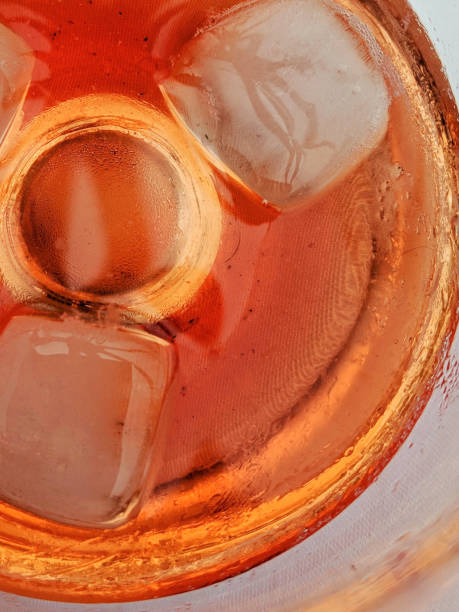 Bitter orange drink with ice stock photo