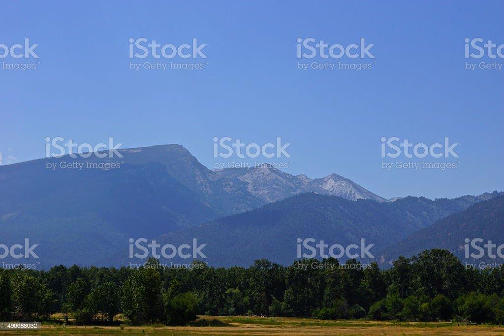 Bitterroot Mountains stock photo
