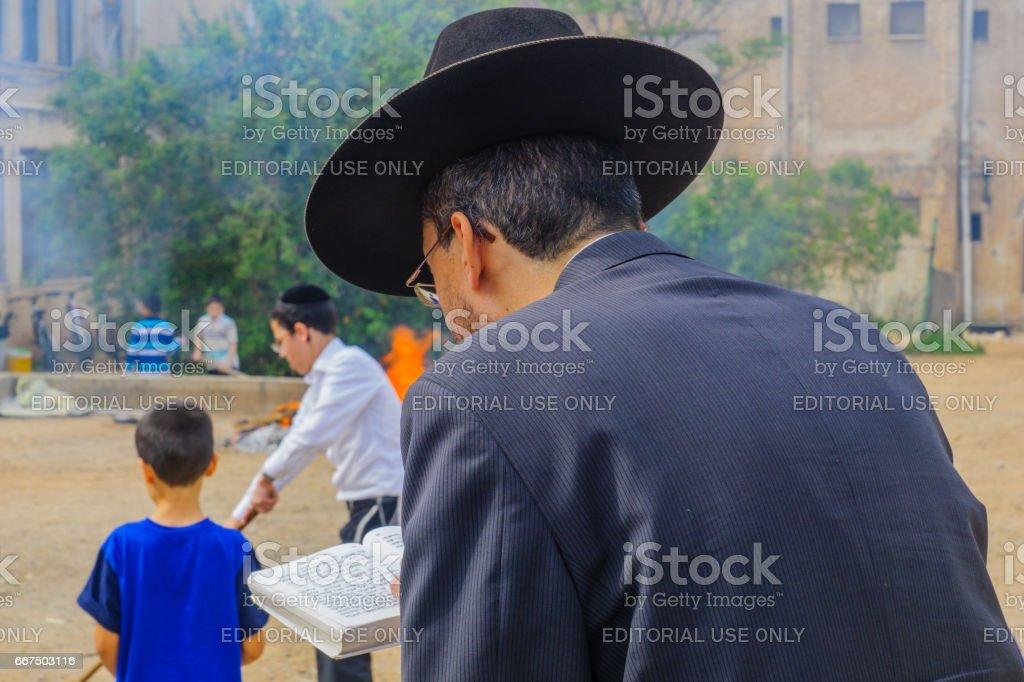 Biur Chametz in Haifa, Passover 2017 foto stock royalty-free