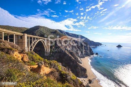 Bixby Bridge and Pacific Coast Highway 1