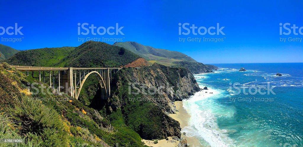 Bixby Bridge, Big Sur California stock photo