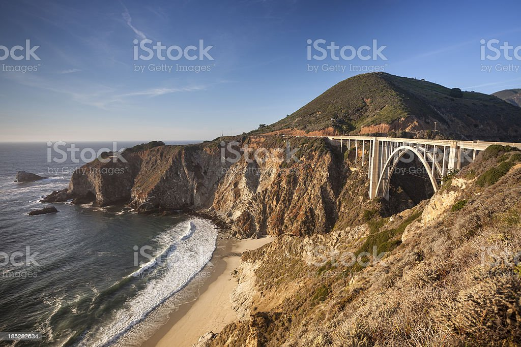 Bixby Bridge, Big Sur, California, USA royalty-free stock photo