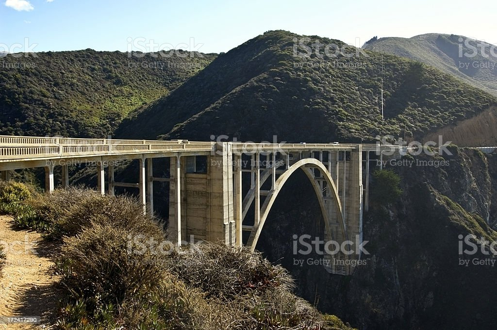 Bixby Bridge, Big Sur Highway royalty-free stock photo