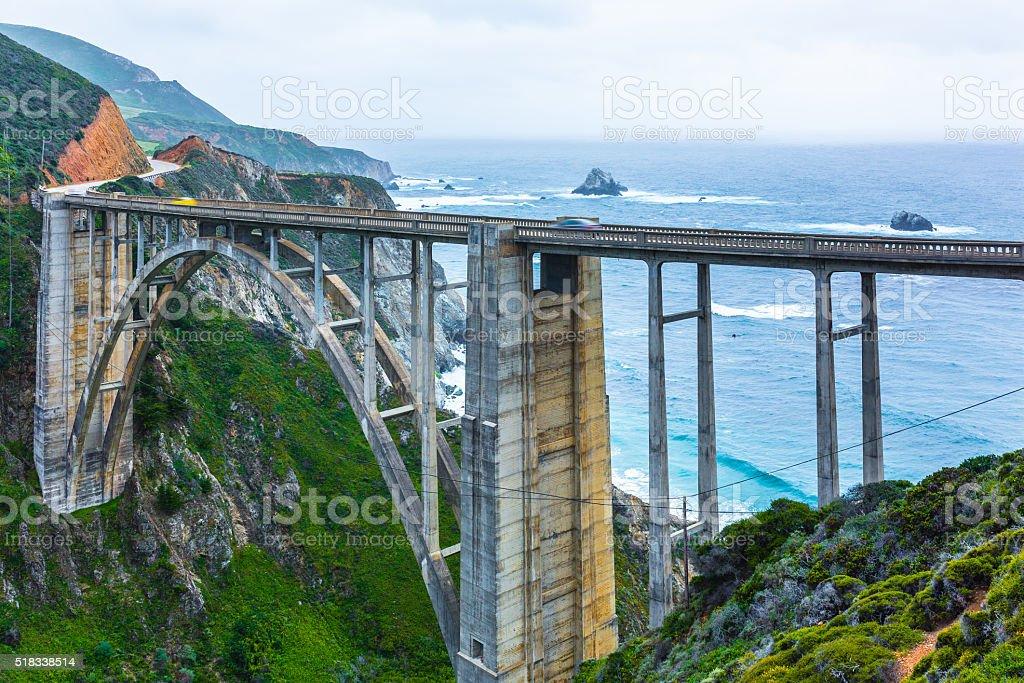 Bixby Bridge, coastline, California, USA stock photo
