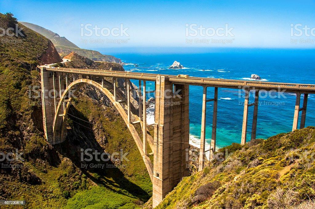bixby bridge highway 1 big sur california usa アメリカ合衆国の