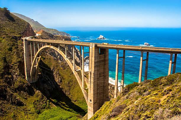 Bixby Bridge, Highway #1 Big Sur, California, USA stock photo