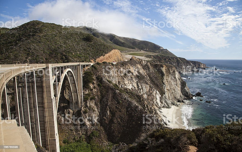 Bixby Bridge in Big Sur, California royalty-free stock photo