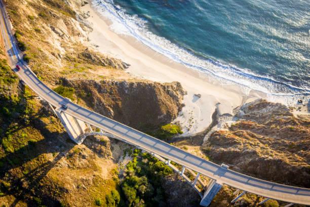 Bixby Bridge in Monterey County California stock photo