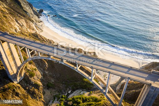 The bixby bridge in Monterey County, California