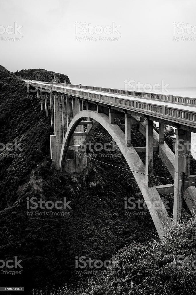 Bixby Bridge over Highway 1 in California royalty-free stock photo