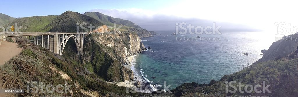 Bixby Bridge, Pacific Coast Highway California stock photo
