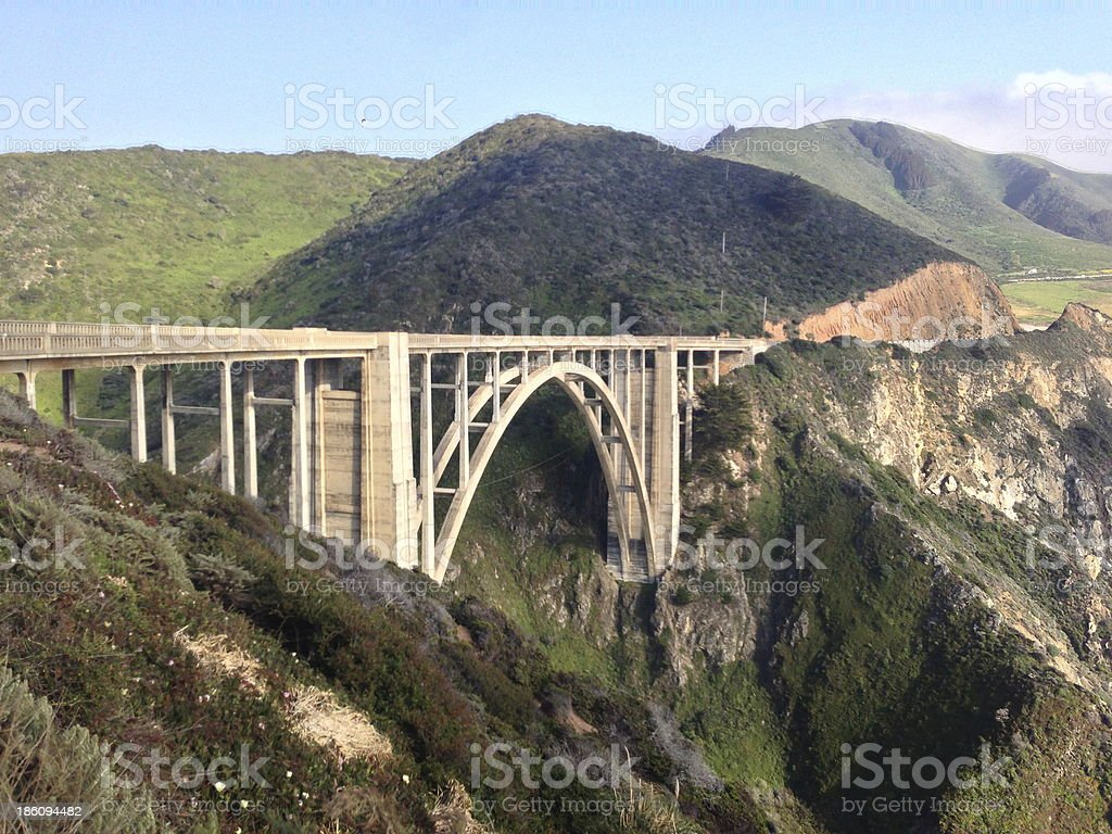 Bixby Bridge, Pacific Coast Highway California royalty-free stock photo