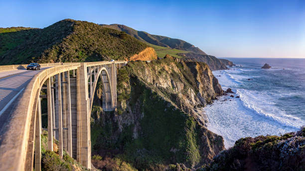 Bixby Bridge Panorama stock photo