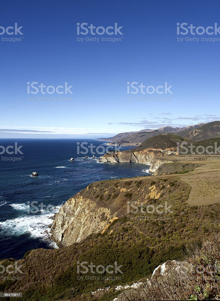 Bixby Bridge Vista royalty-free stock photo