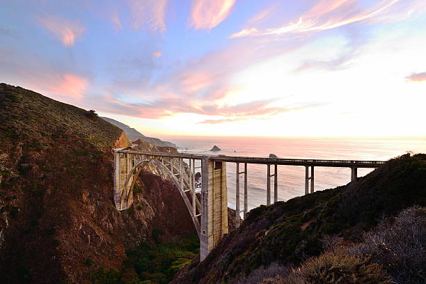 Bixby Creek Bridge / Big Sur, CA stock photo