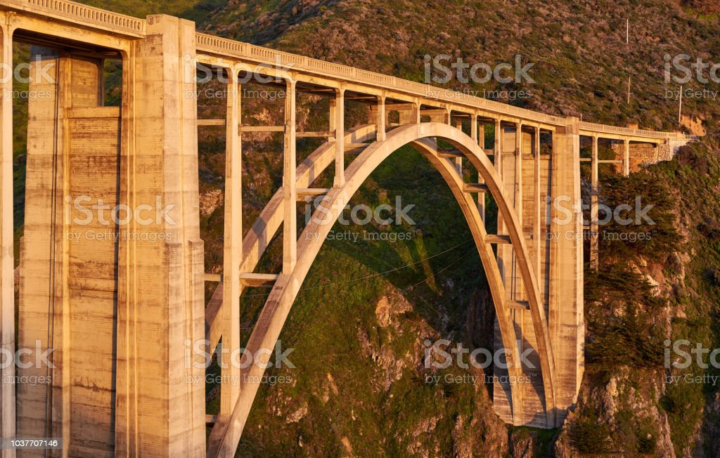 Bixby Creek Bridge On Highway 1 California Stock Photo - Download