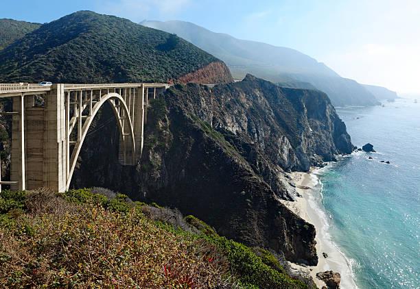 bixby creek bridge - central coast california stock photos and pictures