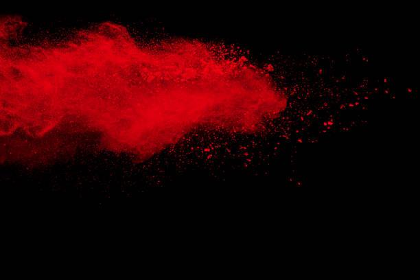 Les formes bizarres de poudre rouge peint explosion - Photo