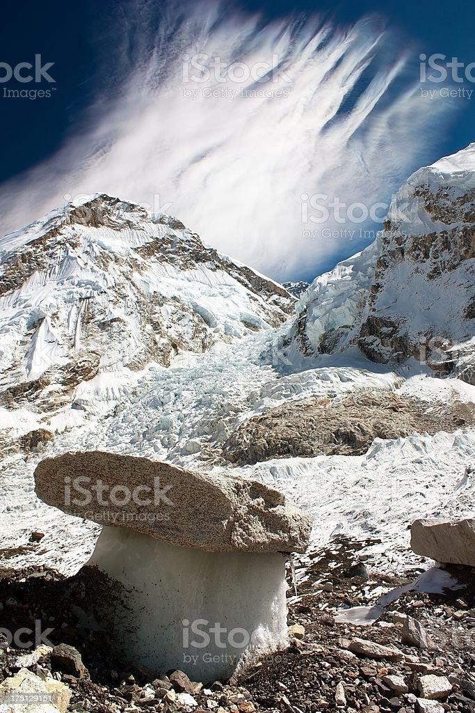 Bizarre mushroom on a glacier royalty-free stock photo