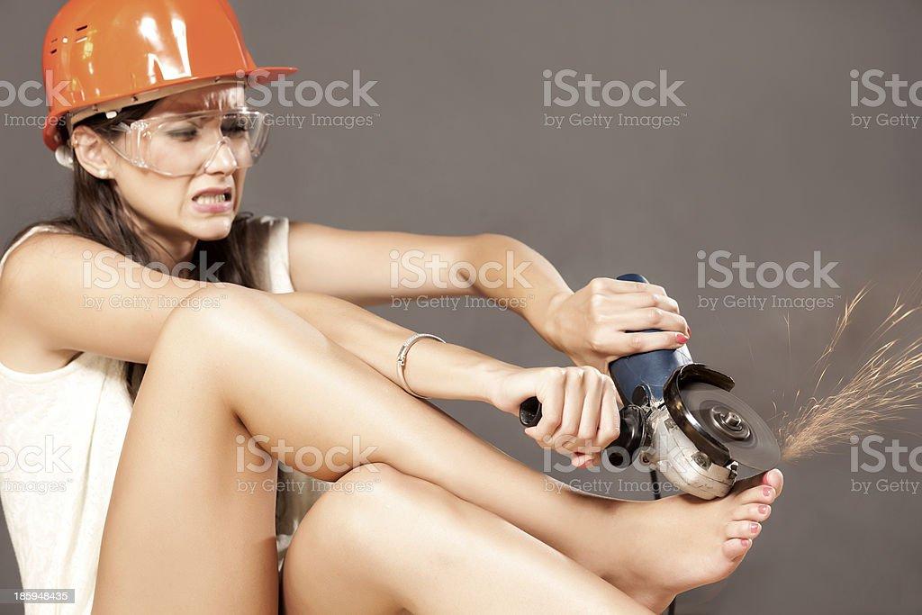bizzare pedicure stock photo