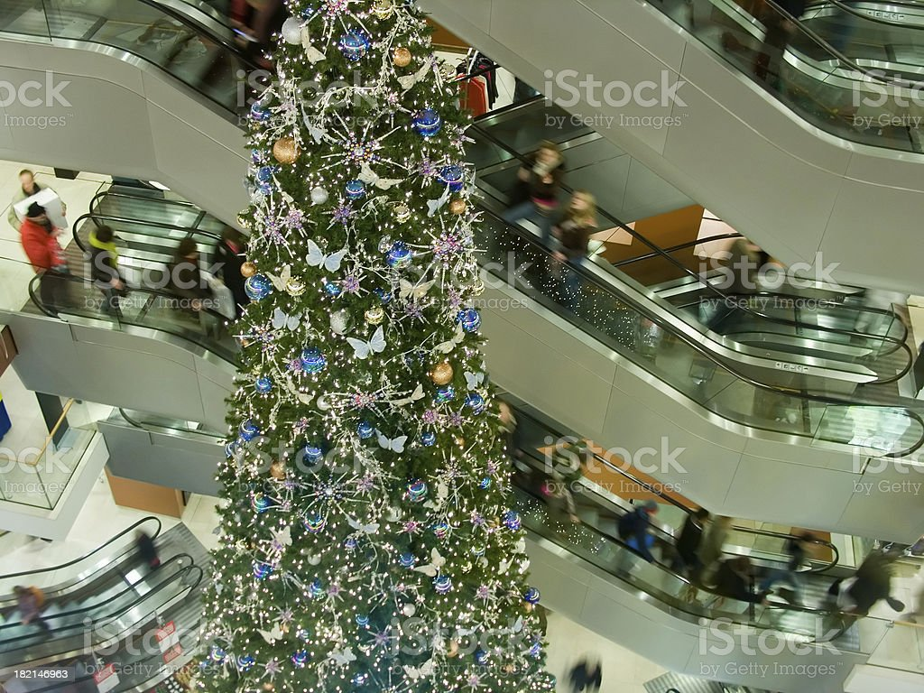 Bizzy Department Store just before Christmas royalty-free stock photo