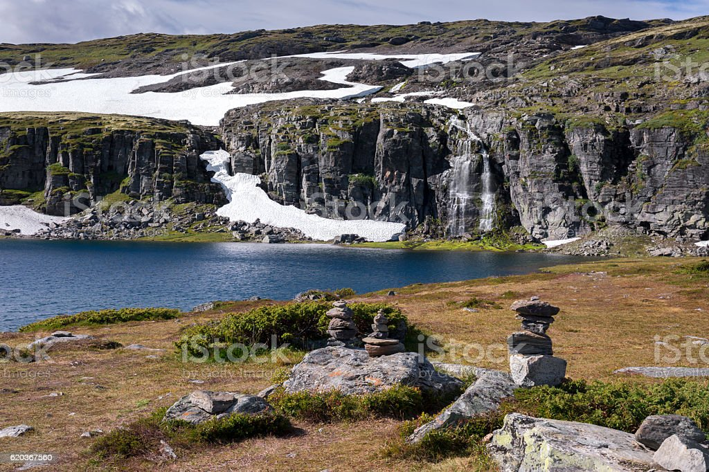 Bjorgavegen route in Norway zbiór zdjęć royalty-free