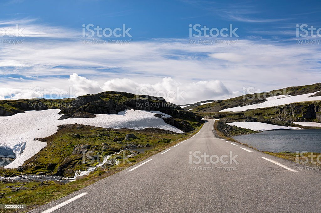 Bjorgavegen route in Norway foto de stock royalty-free