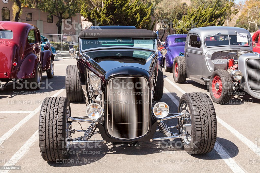 Black 1932 Ford B Roadster stock photo