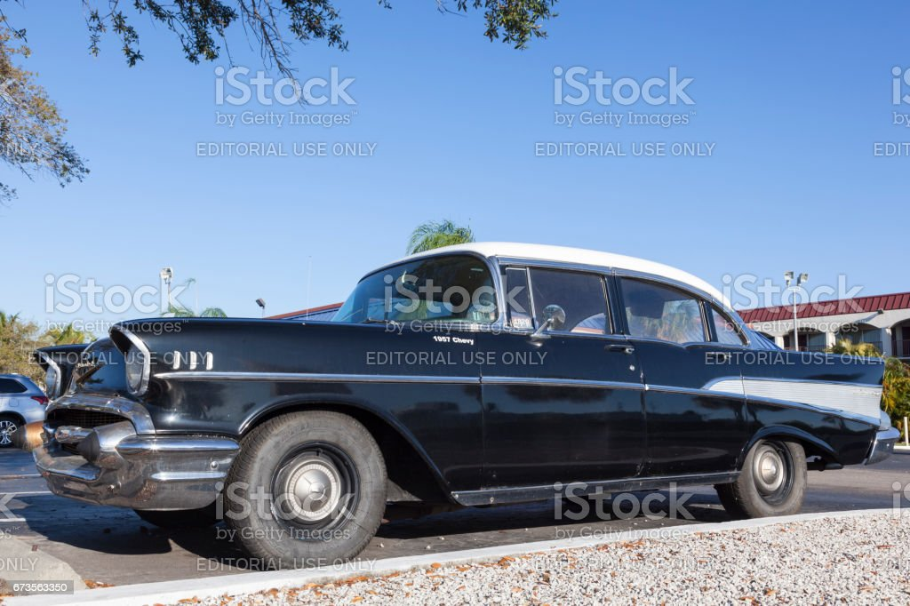 Black 1957 Chevrolet Bel Air Stock Photo More Pictures Of 1957