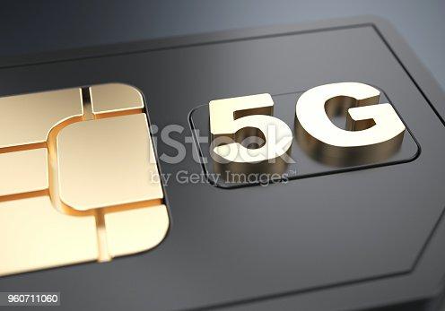 istock Black 5g SIM-card 960711060