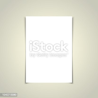 923430302 istock photo Black A4 Paper Template 1040213080