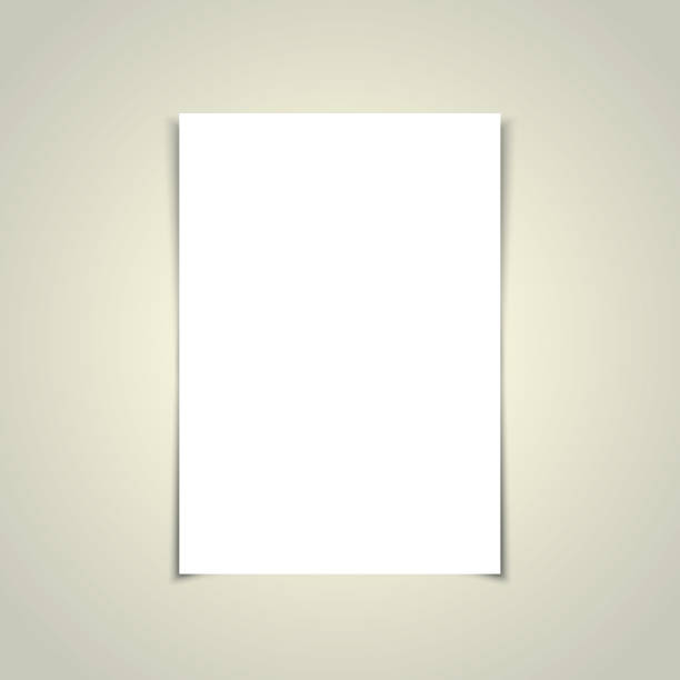 Black A4 Paper Template stock photo