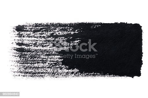istock Black abstract ink  paint brush Strokes texture 950994840