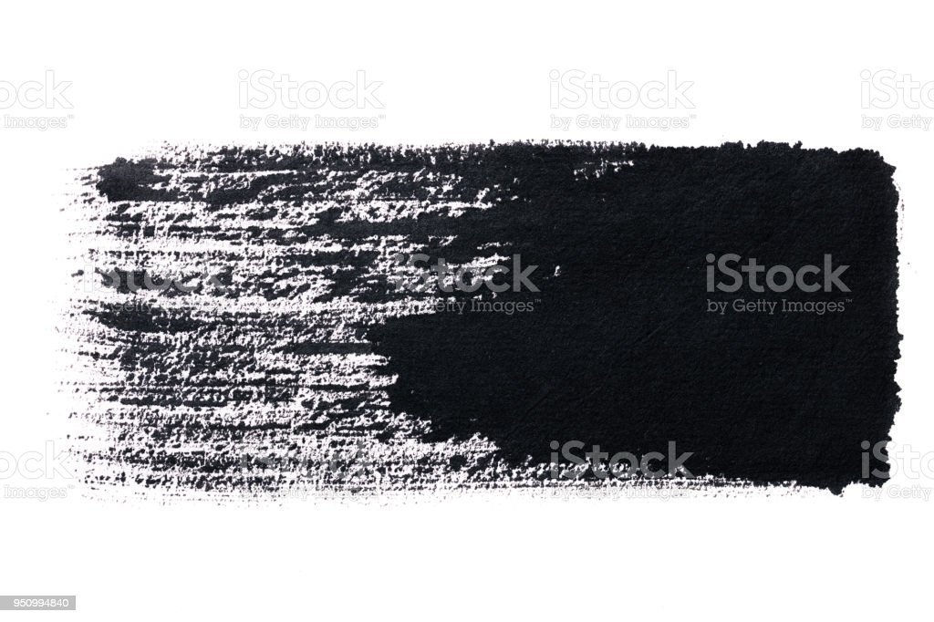 Black abstract ink  paint brush Strokes texture stock photo