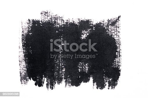 istock Black abstract ink  paint brush Strokes texture 950995098