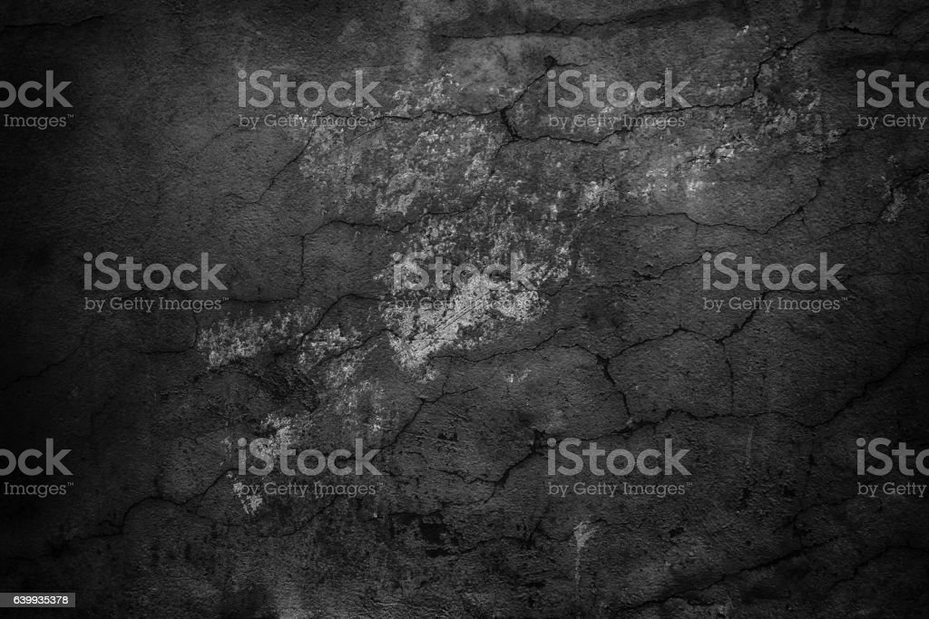 black abstract wall, dark cement texture as background stock photo