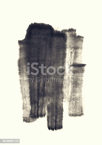 700561460 istock photo Black abstract watercolor paint brush Strokes texture 943885120