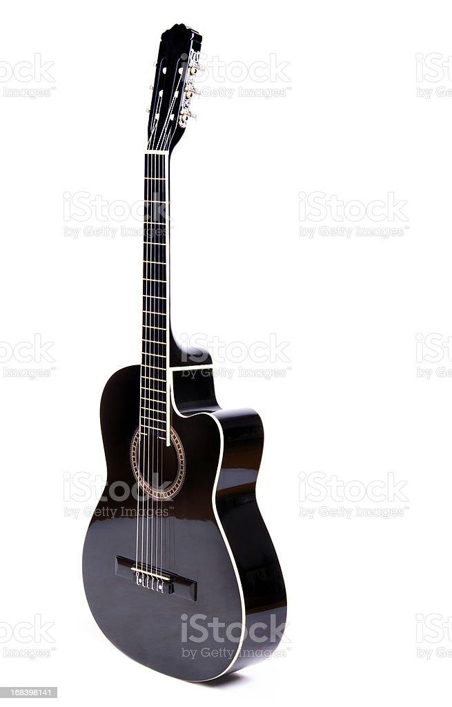 Black Acoustic Guitar stock photo