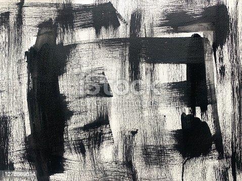istock Black Acrylic Brush Strokes 1278669814