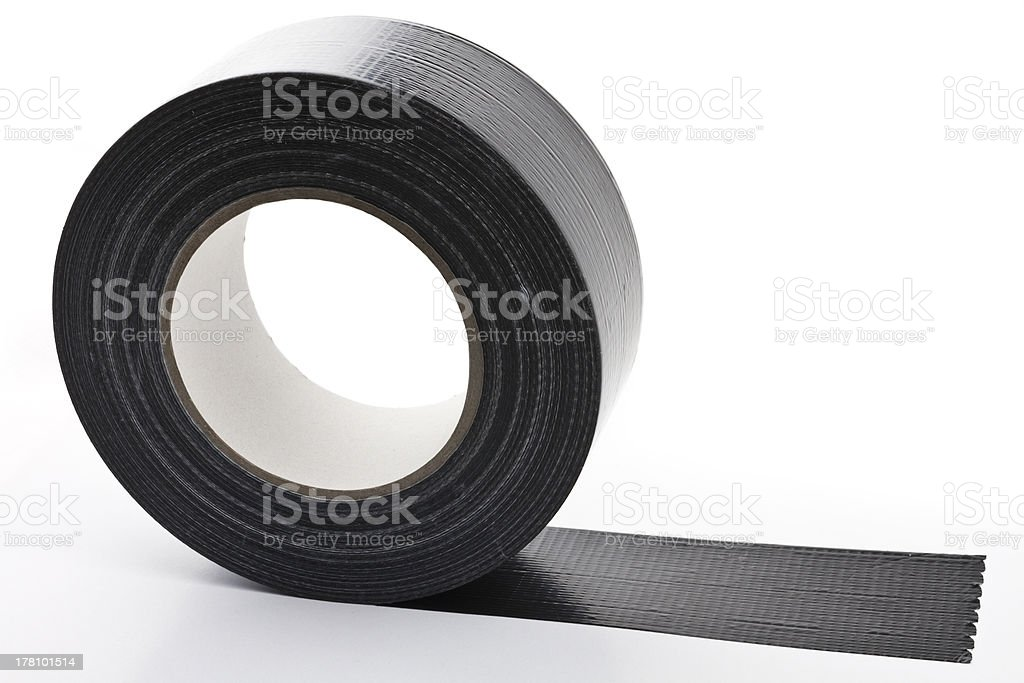 black adhesive tape stock photo