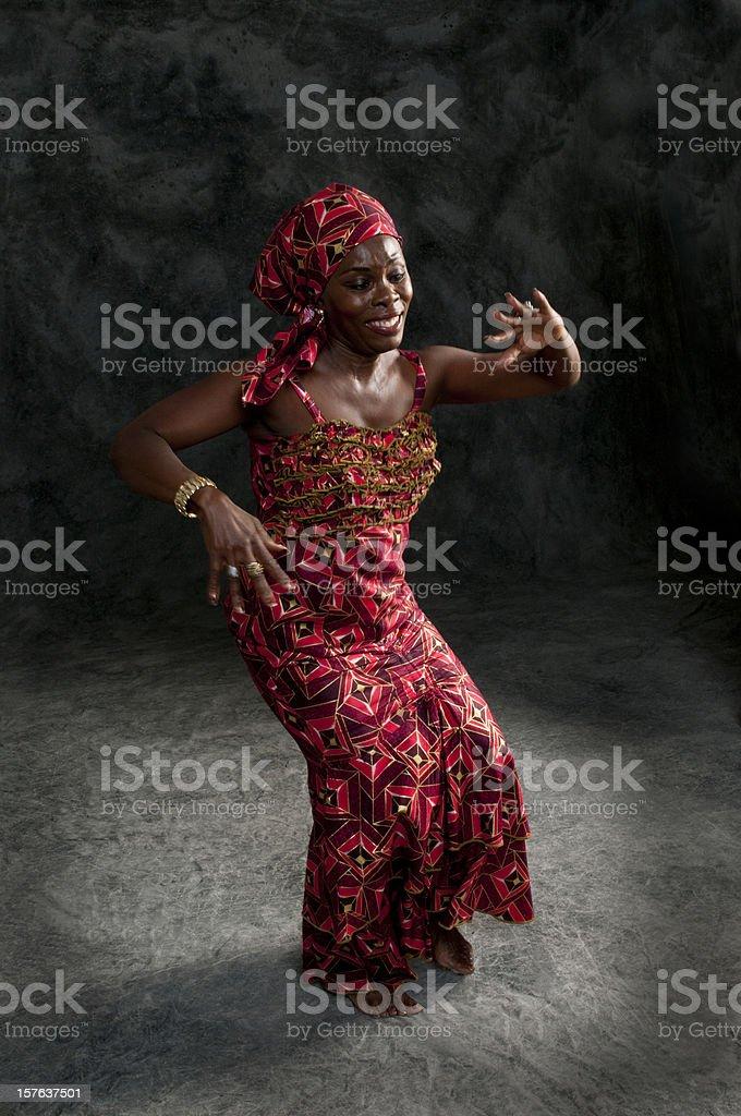 Black African female dancer stock photo