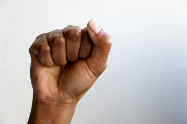 非洲黑手拳 - black power 個照片及圖片檔