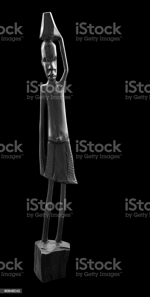 black african sculpture royalty-free stock photo