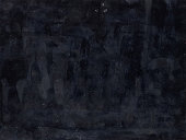 Black aged filmstrip. Dusty overlay. Smeared fingerprints on dark background.