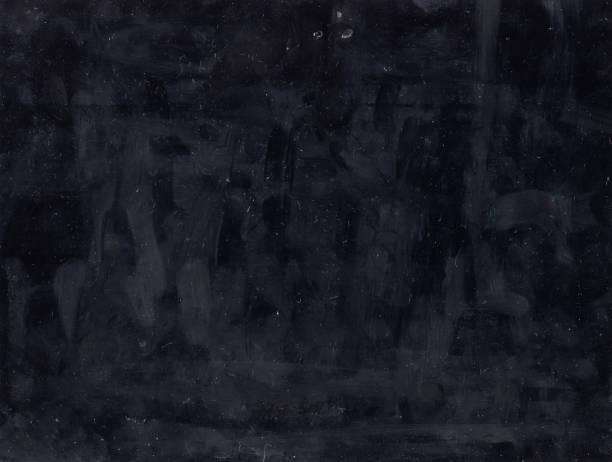 black aged filmstrip dusty overlay fingerprints stock photo