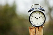 Black alarm clock