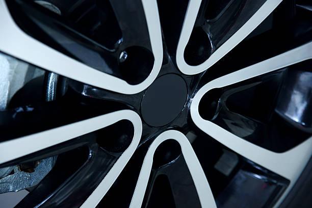 Black Alloy Wheel stock photo